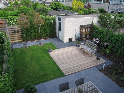 Voorbeeldtuin hoveniersbedrijf derks for Voorbeeldtuinen kleine tuin